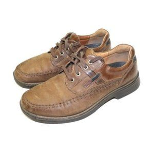 Ecco Fusion Moc Oxford Brown Leather Dress Shoes